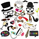 Wedding Photo Booth Props Vintage Great Gatsby Accessories Cardboard Party Supplies Funny Roaring 20s Flapper Girl Party Favors With Women Cat Masquerade Mask For Birthday Fiesta Them Party 45 count