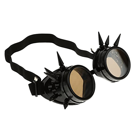 Baoblaze Gafas de Sol Soldador Steampunk Gótico Picos Cosplay Vintage Negro Artesanía Artes Decorativas - Negro, única: Amazon.es: Ropa y accesorios