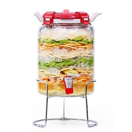 BJLNJP 7.9L Mason Jar Dispensador De Bebidas De Vidrio con Espiga Libre De Fugas,