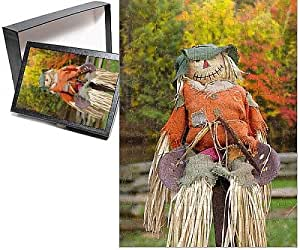 Photo Jigsaw Puzzle of USA, Tennessee, Townsend. Halloween scarecrow