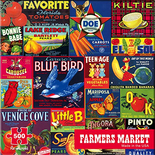 Re-marks Farmers Market 500 Piece Puzzle from Re-Marks