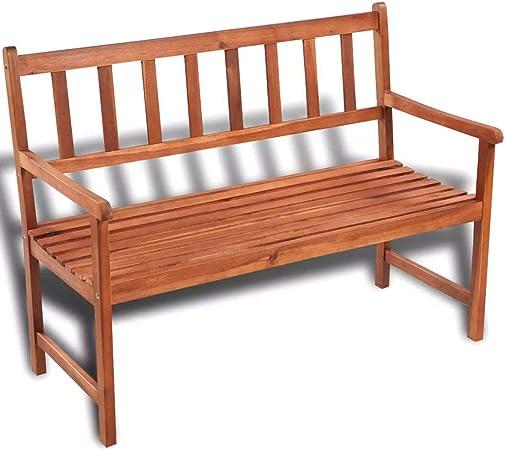 Panchine Da Esterno In Legno.Vidaxl Panchina Da Giardino Con Giardino Classica Legno Resistente