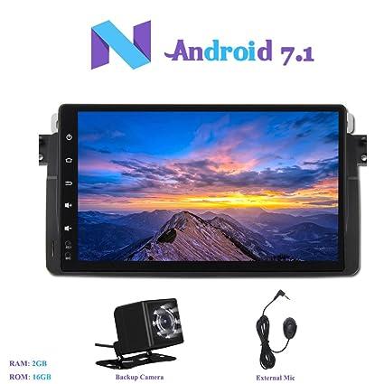 Android 7.1 Autoradio, Hi-azul 1 DIN RAM 2G Radio de Coche 9 Pulgadas