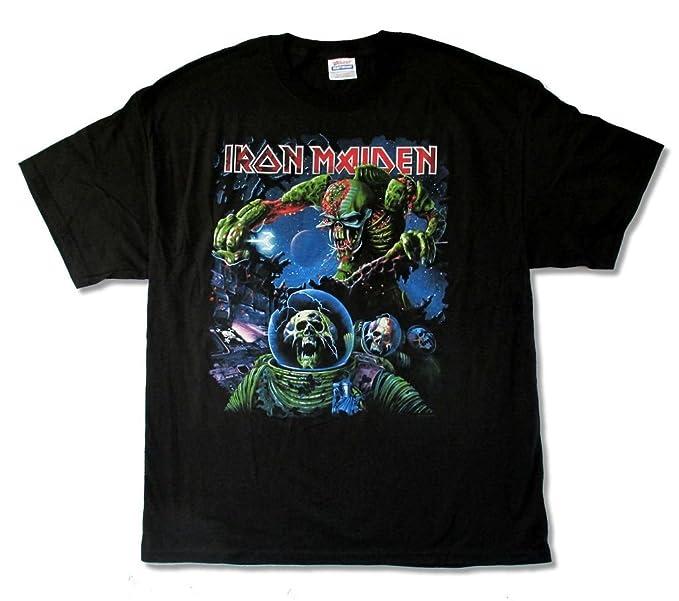 322dd4e2 Amazon.com: Iron Maiden Final Frontier Tour 2010 Album Cover Mens ...