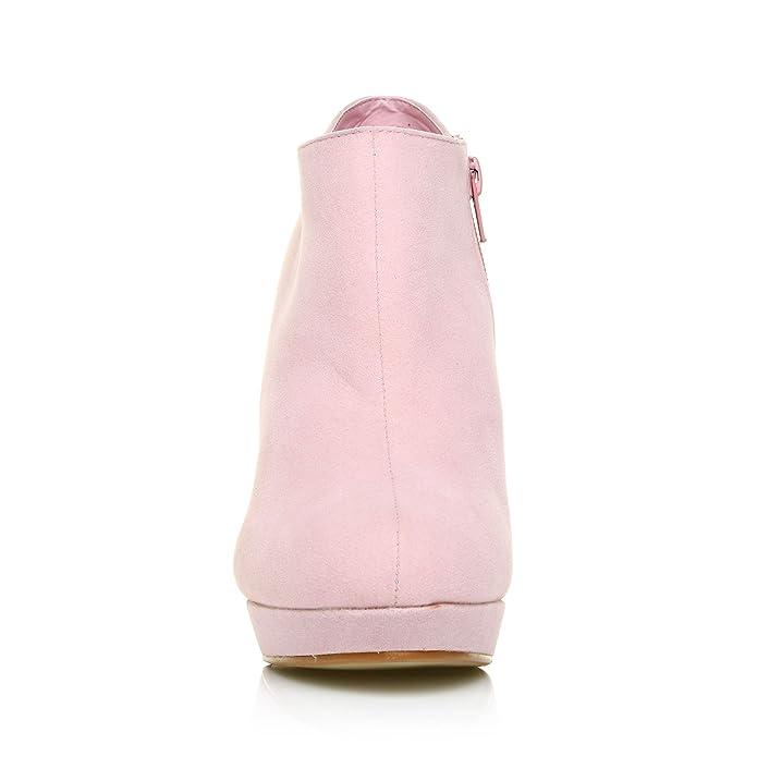 c461df3820ec23 ShuWish UK - Bottines Talon Aiguille Très Haut Faux Daim H20 - Daim rose  layette, Synthétique, EU 41: Amazon.fr: Chaussures et Sacs