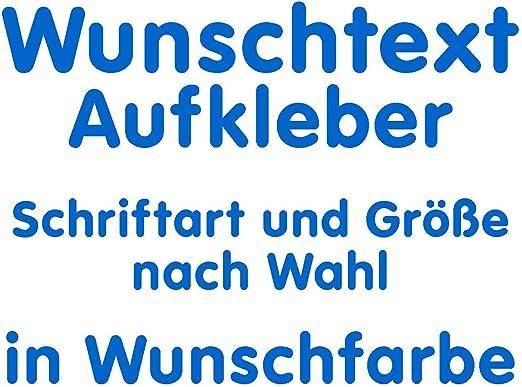 Samunshi/® Autoaufkleber Name Aufkleber Wunschname variabel azurblau