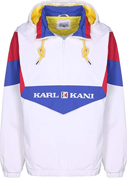 Karl Kani Retro Block Chaqueta Cortavientos White/Red/Blue ...