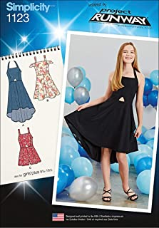 product image for Simplicity Patterns 1123 Girls' and Girls' Plus Dresses and Romper, AA (8-10-12-14-16)