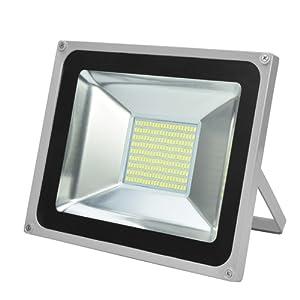 CSHITO 100W LED Projecteur Extérieur Floodlight Eclairage Puissant Lumire d'Inondation - Spot Mural Aluminium Réglable Etanche [IP65][Classe énergétique A++][4F] - Blanc Froid (6000K)