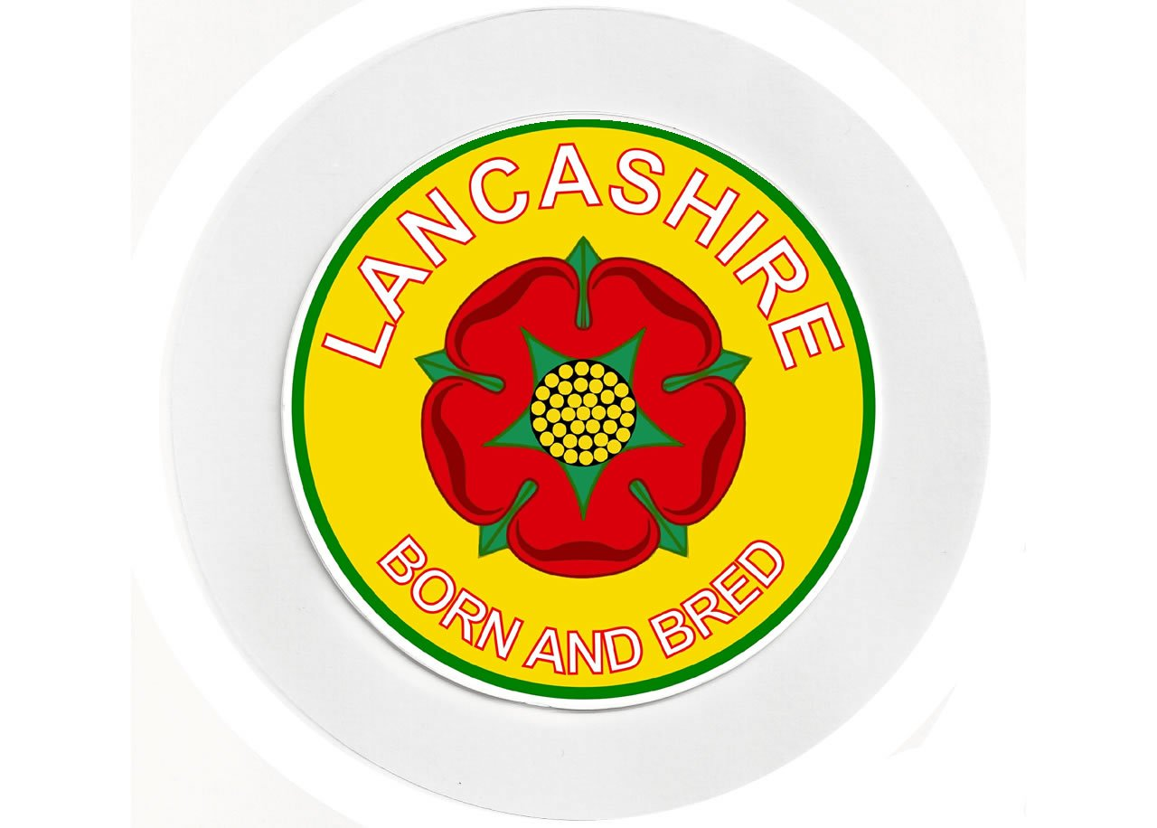 Lancashire//Lancs Born /& Bred Car Tax Disc Holder County Flag Badge