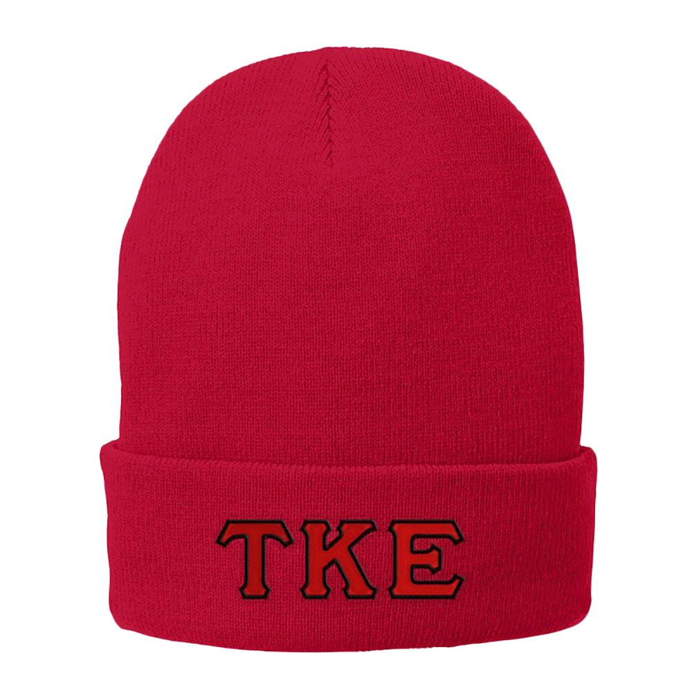 Tau Kappa Epsilon TKE Big Greek Lettered Knit Cap