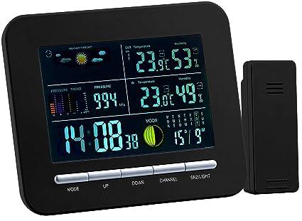 Wetterstation mit Funkwecker Digitaluhr Thermo-//Hygrometer und Funk-Außensensor