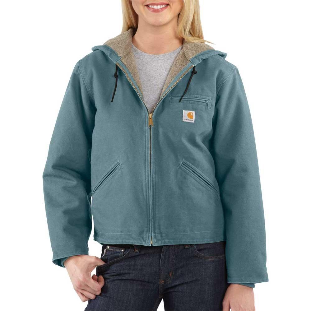Carhartt Women's Sandstone Sierra Jacket, Sea Glass, S by Carhartt