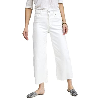 Image Unavailable. Image not available for. Color  Trave Womens Audrey Crop  Wide Leg Jeans ... e9d0b34f28