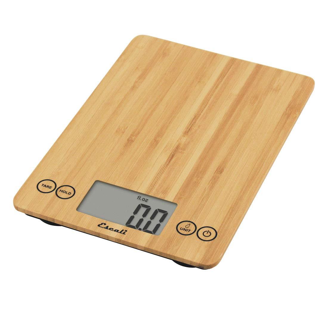 Escali ECO157 Arti Digital Kitchen Scale 15Lb/7Kg, Bamboo, 7 kg, Natural