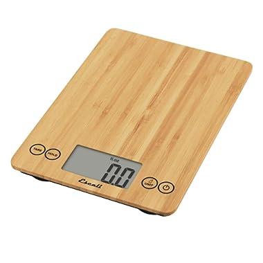 Escali ECO157 Arti Digital Kitchen Scale 15Lb/7Kg, Bamboo
