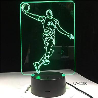 LeBron James 3 Baloncesto LED NightLight 3D Deportes Mesa ...