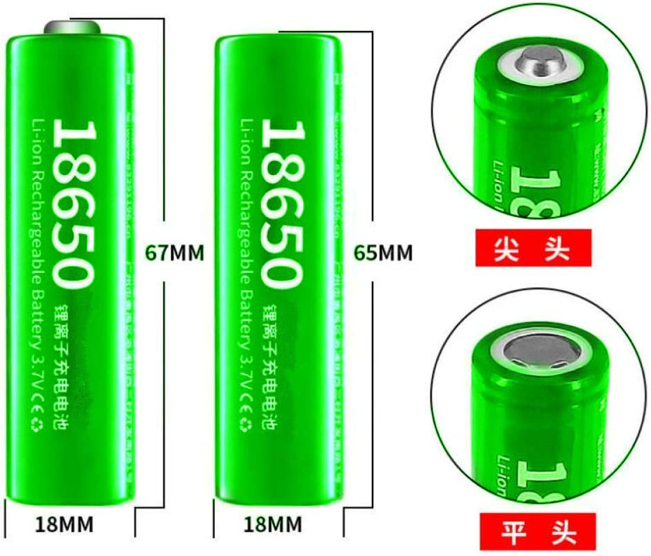 18650 Lithium Battery 3.7V 2500mAh Electric Hair Clipper for Flashlight Tools and toys-6Pcs 4pcs