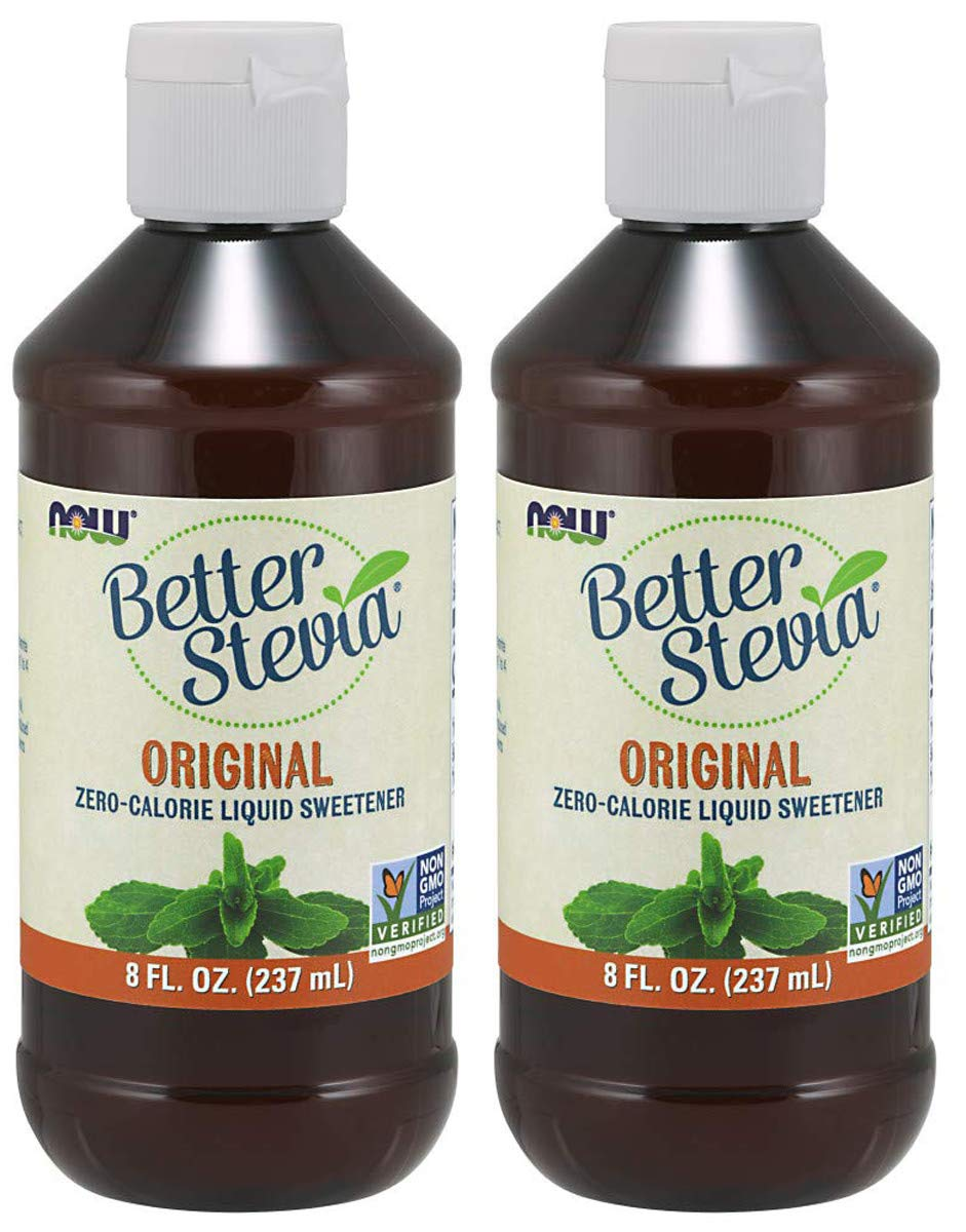 NOW Foods RWLGAB BetterStevia Liquid, 2 Pack of 8 Ounce