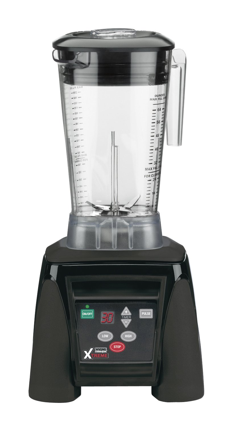 Waring Commercial Rap MX1100XTX Hi-Power Electronic Keypad Blender with Timer and The Raptor Copolyester Container, 64-Ounce, Black