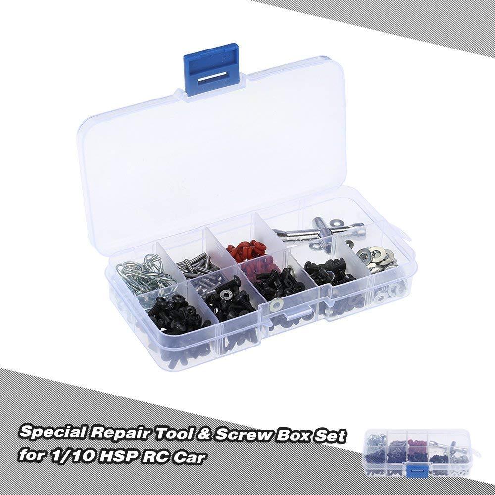 Crazepony-UK Repair Tool Set Screws Box for 1//10 RC Car