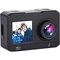 Xmate Stunt Lite Sports Action Camera (Black) |Dual Screen | 16MP Camera | 2.7K Video Recording | Water-Resistant | Supports Micro SD Card up to 32G