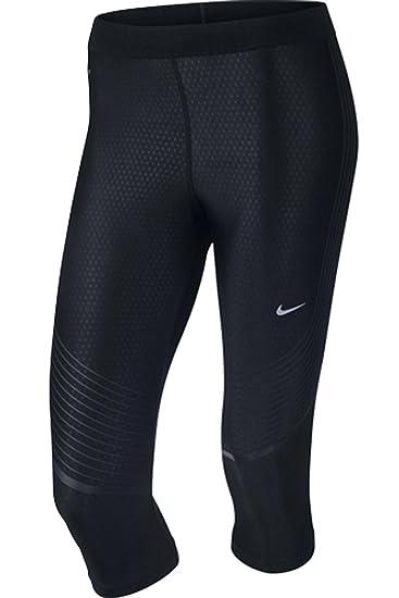 Amazon.com : Nike Womens Power Speed Capri 3/4 Running Tights (S, Black/Reflective  Silver) : Sports & Outdoors