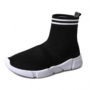 Lucdespo Calzado Deportivo de Mujer Calcetines elásticos Calcetines Zapatos de Punto Calcetines de Mollete con Respaldo
