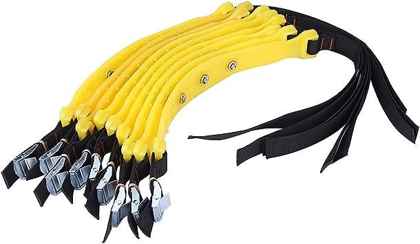 Bigking Tyre Belt 10pcs 185-225mm Tyre Anti-Skid Belt Catene per Pneumatici di Sicurezza per Auto da Neve Universale per SUV per Camion per Auto