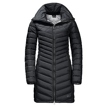 Jack Wolfskin Abrigo de Plumas para Mujer, otoño/Invierno, Color Negro, tamaño Extra-Small: Amazon.es: Deportes y aire libre