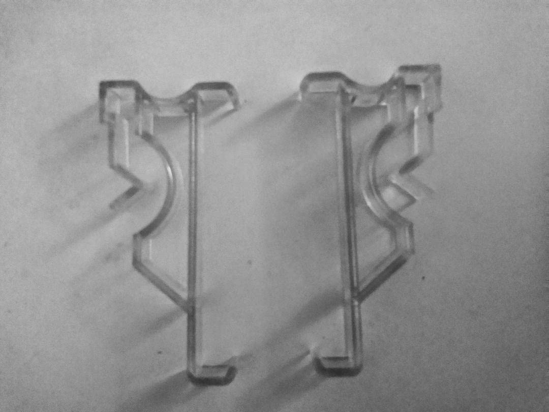 10 Pack 1 inch Clear Valance Retainer Clips for Horizontal Wood or Mini Blinds
