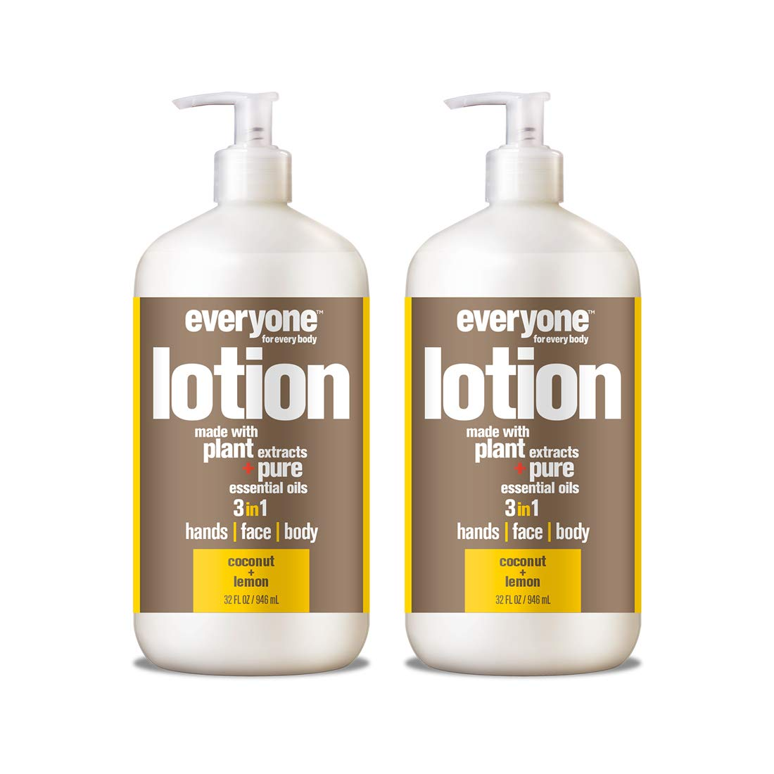Everyone Lotion, Coconut and Lemon, 32 Fl. Oz (Pack of 2) by Everyone
