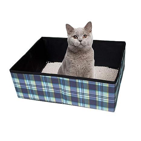 KOBWA Caja de Arena portátil, Plegable para Gatos, Ligera, para Viajes, Mascotas