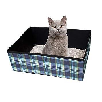 KOBWA Caja de Arena portátil, Plegable para Gatos, Ligera, para Viajes, Mascotas, sartén, Tela Oxford, Caja para Gatos para Mascotas: Amazon.es: Productos ...