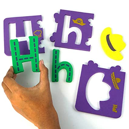 Wooden Alphabet English Letters Bricks Jigsaw Blocks Kids Educational Puzzle Toy Large Assortment Desk Accessories & Organizer Pen Holders