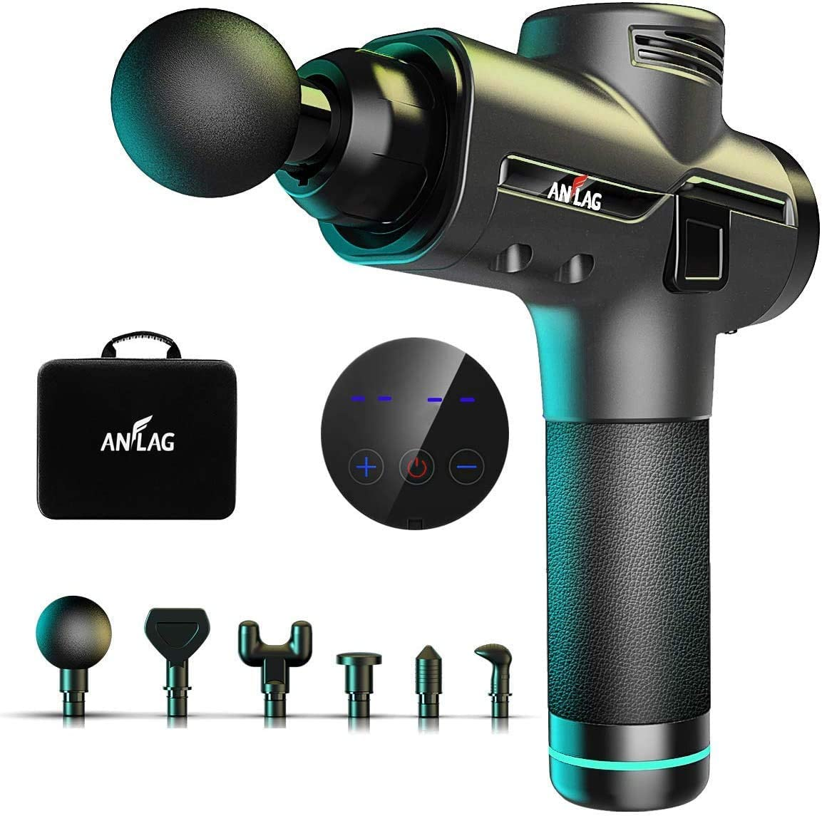 NetDot Pistola per Massaggi Muscolari Massaggiatore Portatile per il Sollievo Muscolare dei Tessuti Profondi Alleviare Dolori Muscolari e Dolore