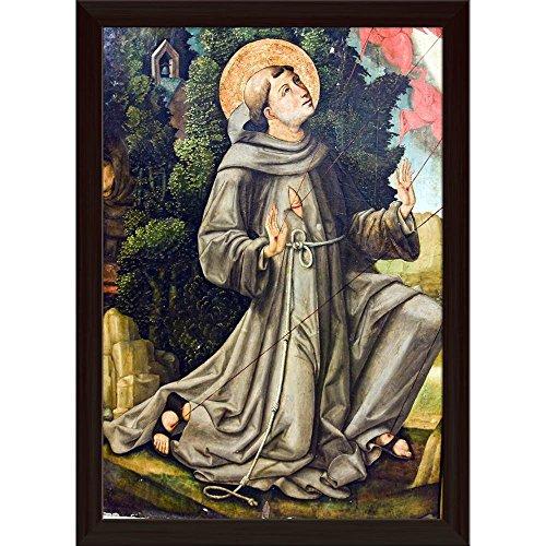 Pitaara Box St Francis Canvas Painting Dark Brown Frame 16 X 22.8Inch