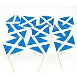 Scotland | Scottish St Andrews Cross Flag Toothpicks (100)