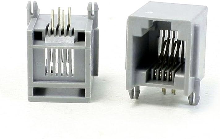 20PCS RJ11 Phone Line Extension Socket Cable Coupler Telephone Connector