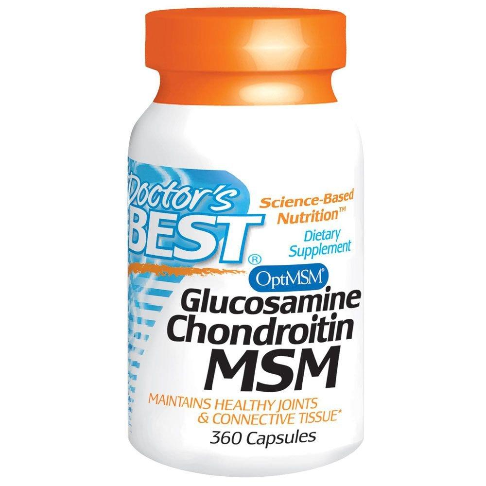 グルコサミン & コンドロイチン + MSM 360カプセル ドクターズベスト ( Doctor's Best ) [並行輸入品] B075RHMPX2