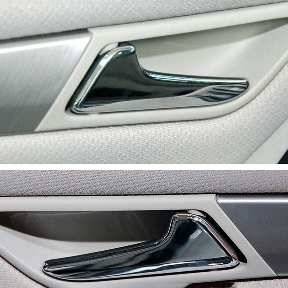 delantera trasera Manijas interiores autom/áticas izquierda derecha Manijas interiores de las puertas para autom/óviles cromados para Mercedes-Benz Clase A W169 Clase B W245 Varilla de revestimiento