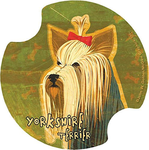 Thirstystone Yorkshire Terrier Car Cup Holder Coaster, - Yorkshire Terrier Coaster