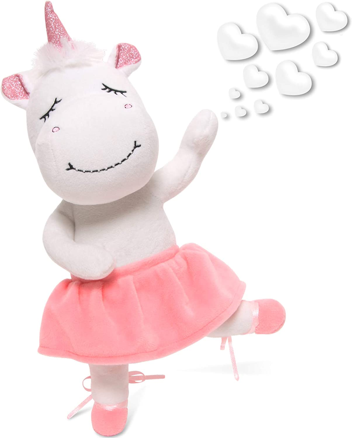 Birthday or Valentines Gift for Girls infloatables Cute Unicorn Gifts Large 13 White Unicorns Plush Toy w Pink Wings Rainbow Hair /& Writable Pink Heart Paws Unicorn Stuffed Animal Gift Packaged for Graduation