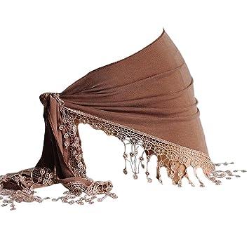 be9d08120f5ac Pingtr Women Sheer Beach Mini Wrap Skirt Sarong Pareo Dress, Women Tassels  Sunscreen Shawl Beach