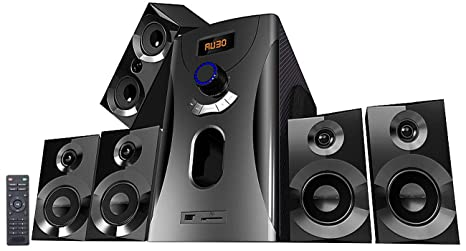Auvisio Heimkinoanlage Home Theater Surround Sound System 5 1 160 Watt Mp3 Radio Schwarz Soundsystem 5 1