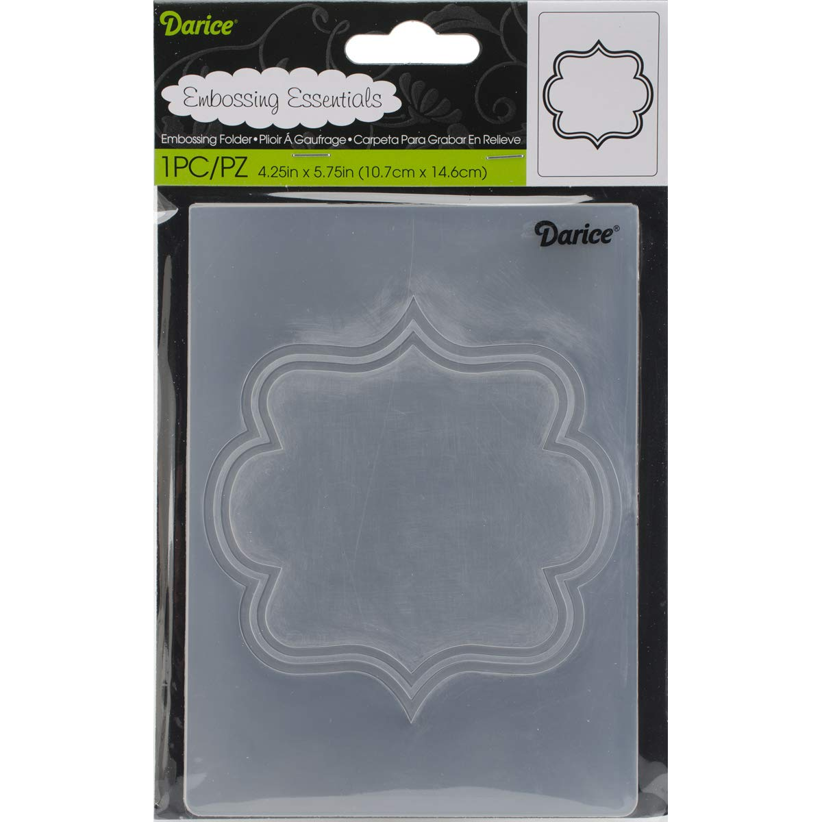 Embossing Folder Square Border 4.25 X 5.75 Inches (3 Pack)