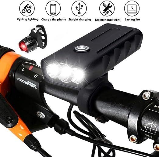 Bike Light 6000 Lumens 5 LED Bicycle Light,Waterproof Mountain Bicycle Front