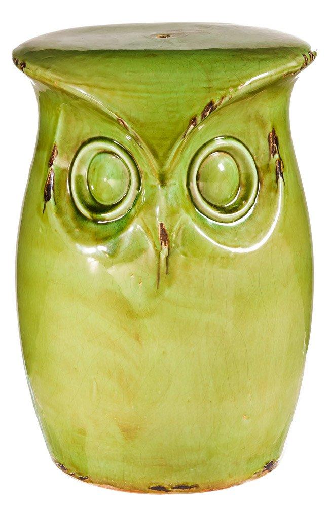 Super Fun Green Ceramic Owl Garden Stool Amazon Co Uk Garden Andrewgaddart Wooden Chair Designs For Living Room Andrewgaddartcom