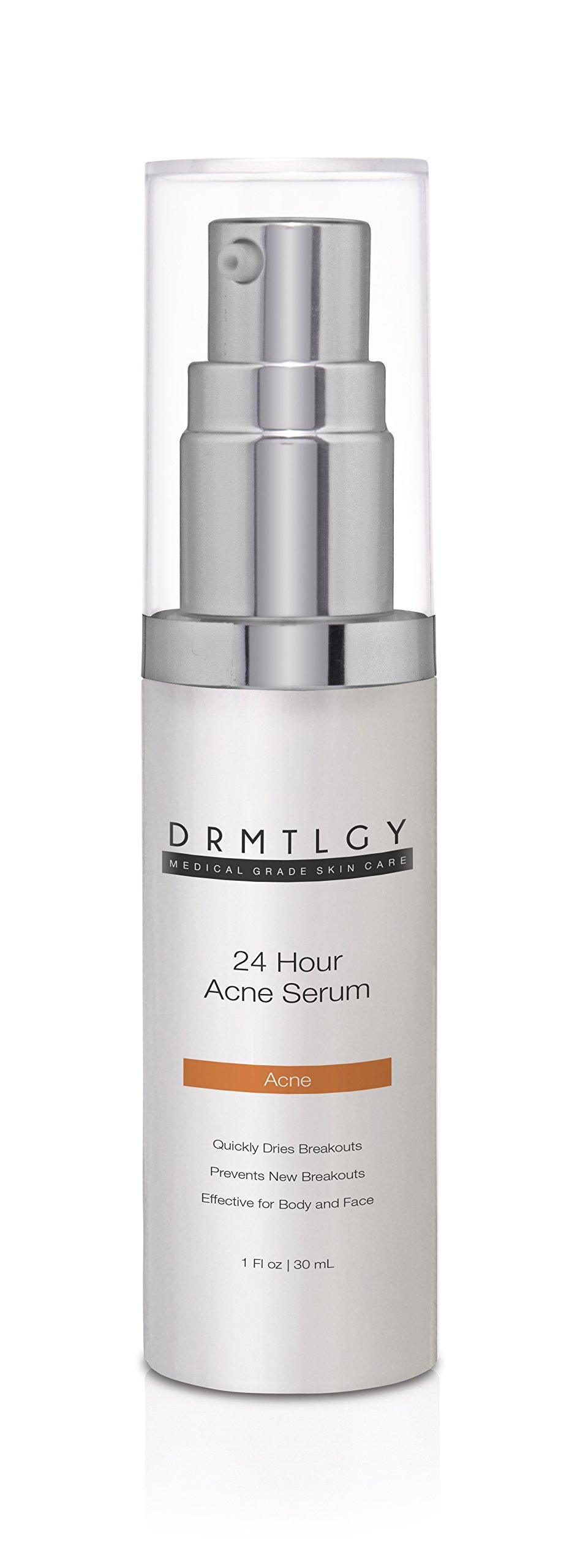 DRMTLGY Powerful Acne Treatment Serum. Micronized Benzoyl Peroxide 5 and Glycolic Acid Fight Acne on the Spot. Eliminate Acne Breakouts, Cystic Acne and Reduce Acne Scarring.