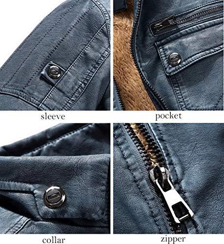 Leather Automne Classique Acmede Biker Veste Homme Pu Jackets Blousons Manteaux Moto Chaud Cuir Gris Épais En Pour Hiver pZwWqd5w